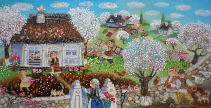 Cказочные картины Елены Ревуцкой... Молдова