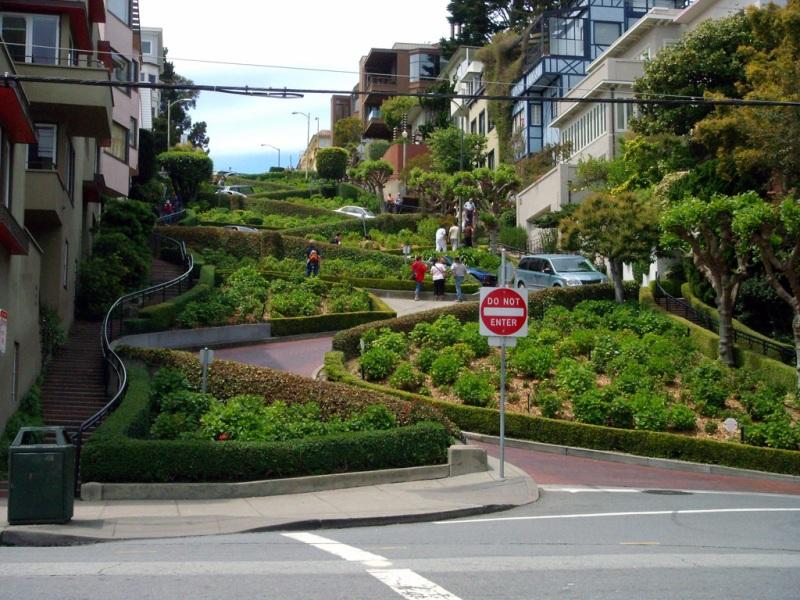 Lombard Street – cea mai curbă stradă