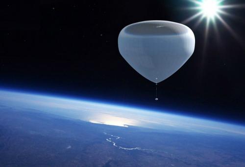 Летающий шар для космических туристов