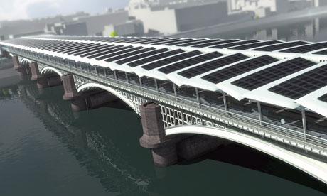 Солнечный мост через реку Темзу в Лондоне станет самым длинным в мире