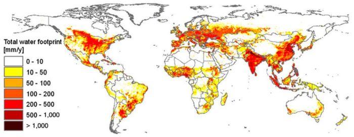 На сельское хозяйство приходится 92% воды, потребляемой в мире