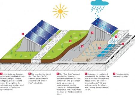Înverzirea acoperişurilor va salva panourile solare de supraîncălzire