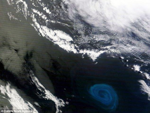 Спутник НАСА заснял огромный водоворот на южном побережье Африки