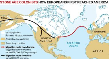 America a fost descoperită de vînătorii epocii de piatră din Europa