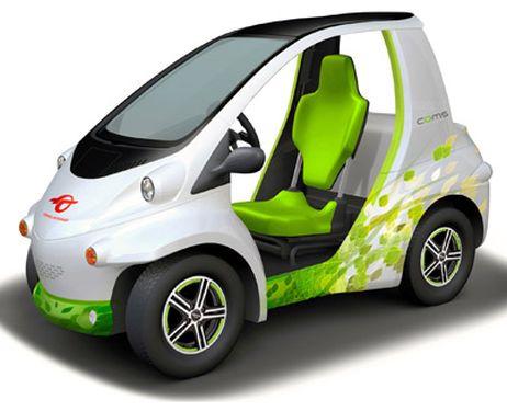 Toyota анонсировала крошечный одноместный электромобиль Coms 2012