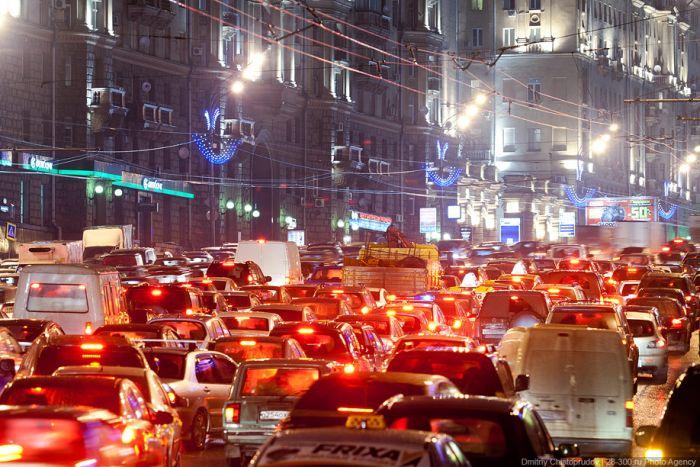 Эстетика московских пробок (Фото)