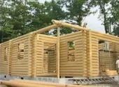 Дом из оцилиндрованного бревна (Видео)