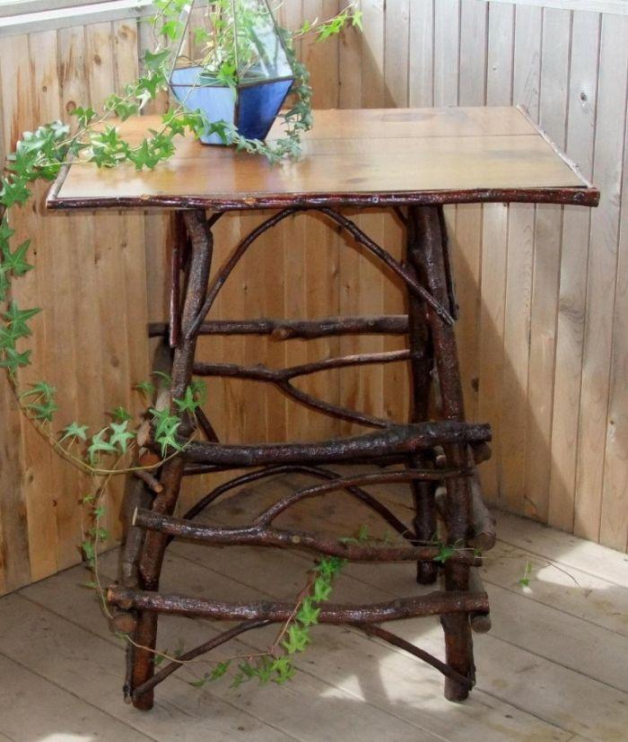Садовая мебель и предметы декора для дачи из природных материалов