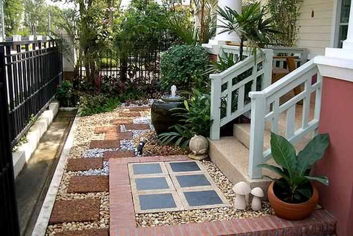 Красивый двор частного дома своими руками фото