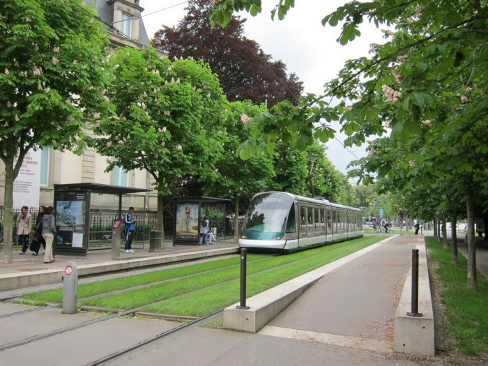 Европейские зелёные трамвайные пути