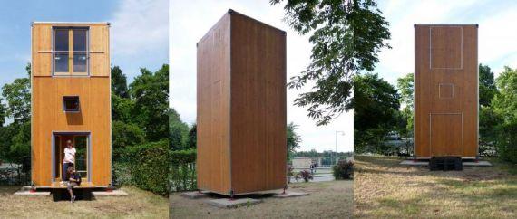 Homebox – мобильный контейнерный дом из натурального дерева