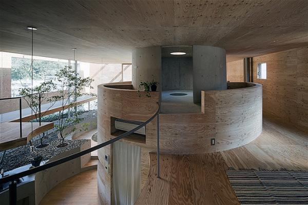 Pit House — подземно-надземный дом от японских архитекторов