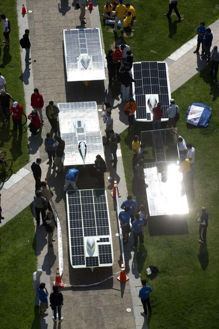 Автомобили на солнечной энергии от чилийских студентов (10 фото)