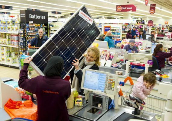 Sainsbury – солнечная энергия из магазина (+Видео)