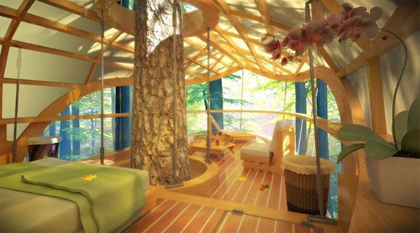 Вилла на дереве - новый тренд экоотелей