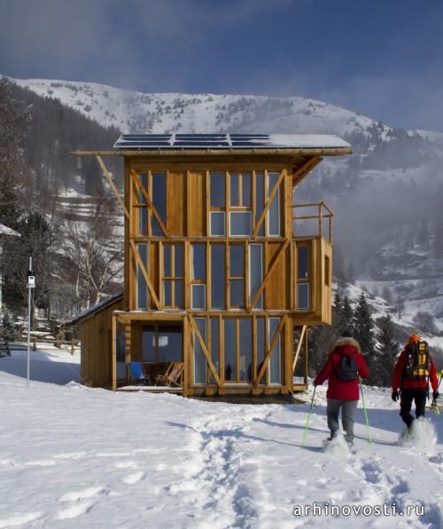 Солнечный дом от studio Albori. Валле-д'Аоста, Италия
