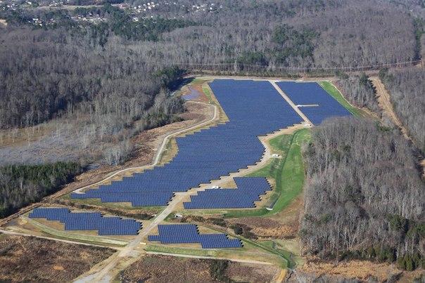 Солнечная электростанция компании Volkswagen в округе Чаттануга, Теннеси