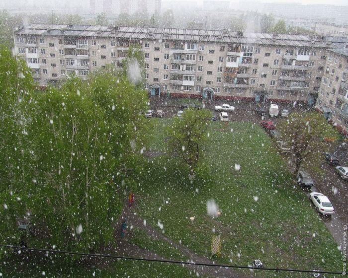 Кемеровская область встретила лето снегопадом (фото+видео)
