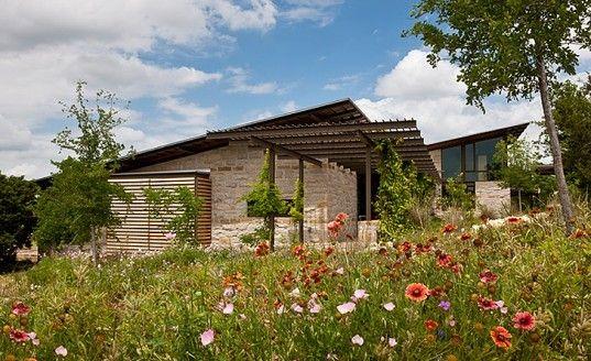 В Техасе построен эко-дом с уникальной системой сбора дождевой воды