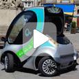 Hiriko складной электромобиль с солнечной батареей