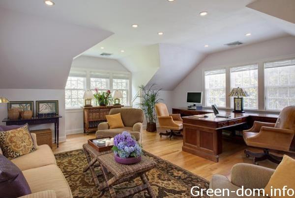 Домашний офис может быть зелёным