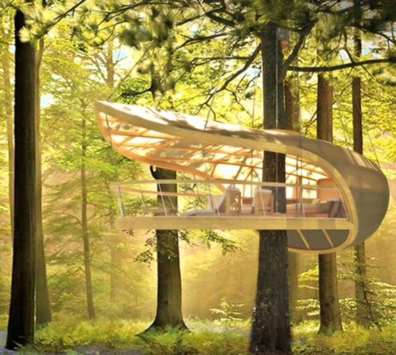 Дом на дереве в стиле парусника