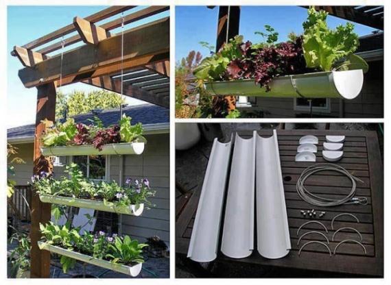 Как сделать висячие сады на желобах за 7 шагов