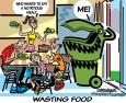 продуктов питания выбрасывают на мусор