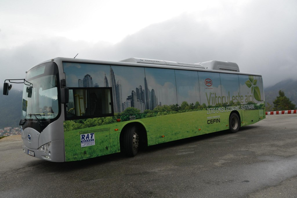 Тестирование электроавтобуса в Брашове