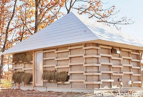 Созданный японцами дом нагревается и охлаждается благодаря ферментации соломы