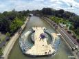 Мост из 100 000 ПЭТ-бутылок построен в Румынии