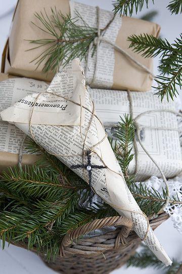 оборачиваем подарки экологично