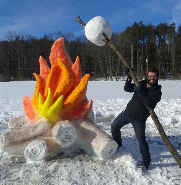 Искусство из снега (Фото)
