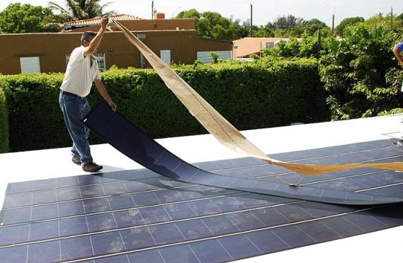 Гибкие тонкопленочные солнечные панели