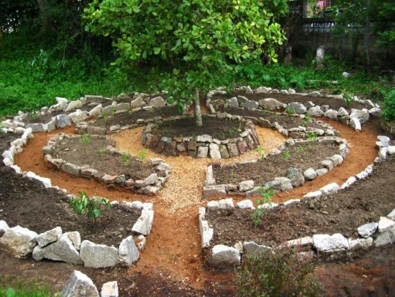 Овощная грядка Мандала. Круговое садоводство