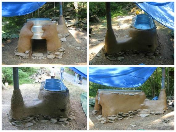 Как сделать горячую ванну на дровах из самана за 6 шагов