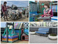 Садовую мебель из пластиковых бутылок делают на Урале