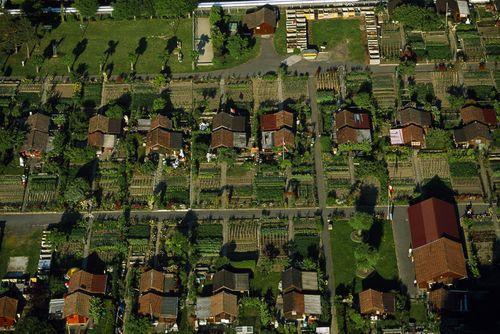 Город, где каждый житель имеет собственный сад