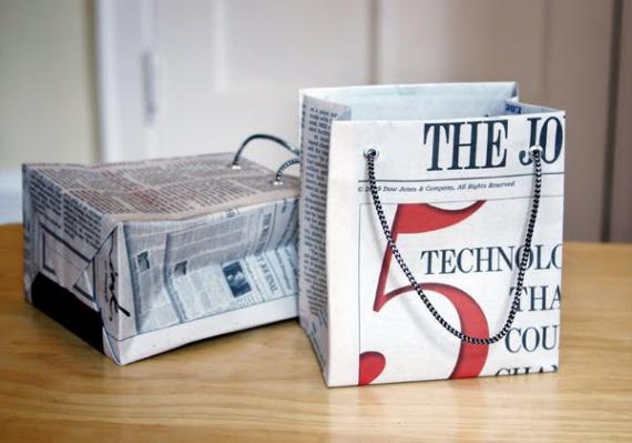 Как сделать сумку из газетной бумаги