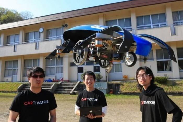 Японцы разрабатывают летающий электромобиль для защиты от землетрясений