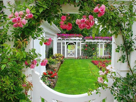 13 фишек для оформления сада цветами (+Фото)