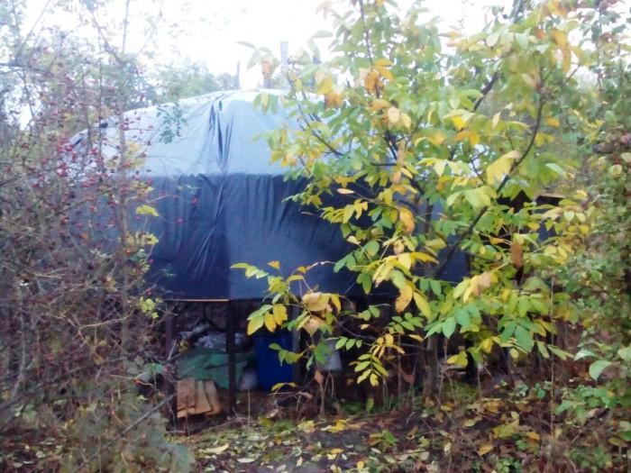 15 фото купольного домика на моем поместье. Крыша готова, стройка продолжается