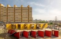 В Китае морские контейнеры превращают в общественные помещения