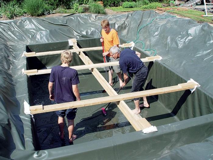 Купальня своими руками. Плавательный пруд на садовом участке (+Фото)
