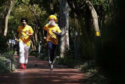 Фауджа Синг долгожитель, бегун и веган