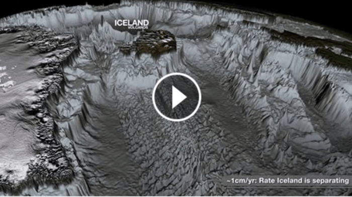 Рельеф океанского дна без воды очень впечатляет (Видео)