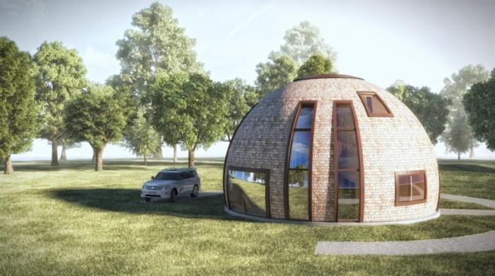 Молдаванин построил необычный купольный дом (Видео)