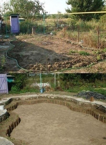 Фото-инструкция, как построить бассейн своими руками