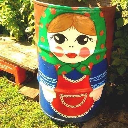 У вас в саду стоит бочка? Пусть она радует взгляд (Фото)