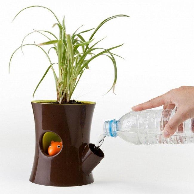 Горшок для цветов, который сам просит воды (+Фото)